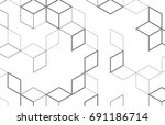 vector abstract boxes... | Shutterstock .eps vector #691186714