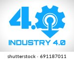 industry 4.0 smart factory... | Shutterstock .eps vector #691187011