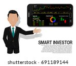 smart investor is presenting... | Shutterstock .eps vector #691189144