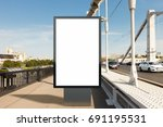 blank advertising vertical... | Shutterstock . vector #691195531