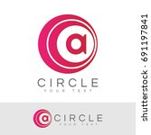 circle initial letter a logo... | Shutterstock .eps vector #691197841
