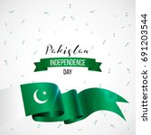 14th august. pakistan happy... | Shutterstock .eps vector #691203544