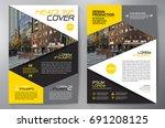 business brochure. flyer design....   Shutterstock .eps vector #691208125