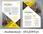 business brochure. flyer design.... | Shutterstock .eps vector #691209514