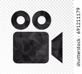 transparent   low poly video... | Shutterstock .eps vector #691211179