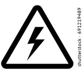 electricity sign  lightning ... | Shutterstock .eps vector #691219489
