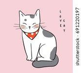 vector illustration character... | Shutterstock .eps vector #691220197