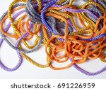 laces texture. wo lined boot... | Shutterstock . vector #691226959
