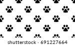 dog paw cat paw kitten puppy... | Shutterstock .eps vector #691227664