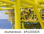 working at height. a commercial ... | Shutterstock . vector #691233325