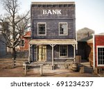 Western Town Rustic Bank. 3d...