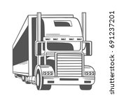 big truck. vector illustration. | Shutterstock .eps vector #691237201