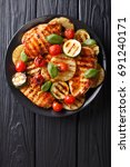 chicken fillet grilled with...   Shutterstock . vector #691240171