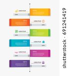6 rectangle tab timeline... | Shutterstock .eps vector #691241419