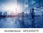 modern office building  blue... | Shutterstock . vector #691243375