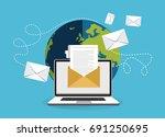 email marketing concept design. ...   Shutterstock .eps vector #691250695