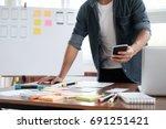 web designer  ux ui designer... | Shutterstock . vector #691251421