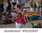vancouver british columbia... | Shutterstock . vector #691252819