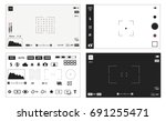 camera settings 3 devices and... | Shutterstock .eps vector #691255471