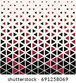 abstract geometric hipster... | Shutterstock .eps vector #691258069