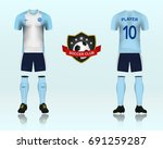 3d of font and back of soccer...   Shutterstock .eps vector #691259287