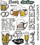 october fest. vector  beer... | Shutterstock .eps vector #691260925