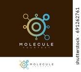 molecule initial letter o logo... | Shutterstock .eps vector #691262761
