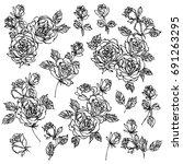 flower illustration object | Shutterstock .eps vector #691263295