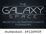 galaxy space set style... | Shutterstock .eps vector #691269439