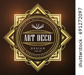 art deco vintage badge logo... | Shutterstock .eps vector #691272097