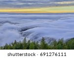 amazing clouds with heavy fog...   Shutterstock . vector #691276111