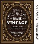 vintage frame label retro hand... | Shutterstock .eps vector #691276477