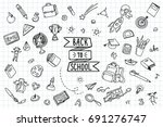 concept of education. back to... | Shutterstock .eps vector #691276747