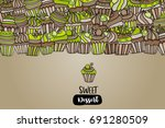cupcake cartoon doodle design.... | Shutterstock .eps vector #691280509