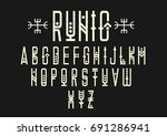 vector alphabet set. capital... | Shutterstock .eps vector #691286941