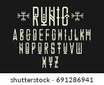 vector alphabet set. capital... | Shutterstock .eps vector #691286941