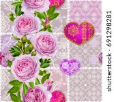 floral background. seamless...   Shutterstock . vector #691298281