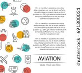 aviation poster concept with...   Shutterstock .eps vector #691300021