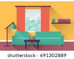 interior of colorful living... | Shutterstock . vector #691302889