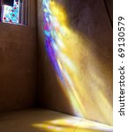 Stained Glass Window With Sun...