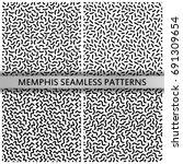 black and white memphis... | Shutterstock .eps vector #691309654
