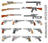 various rifle  guns and pistols ...