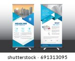 roll up template vector... | Shutterstock .eps vector #691313095