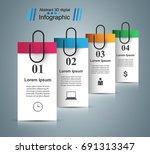 3d infographic design template... | Shutterstock .eps vector #691313347