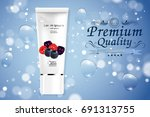 luxury cosmetic bottle package...