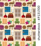 seamless furniture pattern | Shutterstock .eps vector #69131500