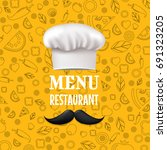 menu restaurant  with gradient... | Shutterstock .eps vector #691323205
