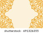template card for greeting card.... | Shutterstock .eps vector #691326355