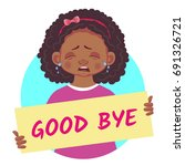 good bye banner. african or... | Shutterstock .eps vector #691326721