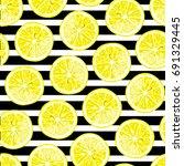 Lemon  Lime Seamless Pattern....